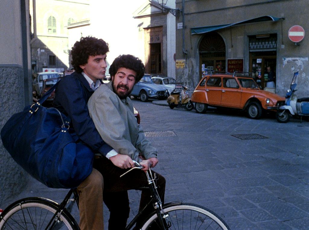 gaetano e raffaele in due sulla bicicletta