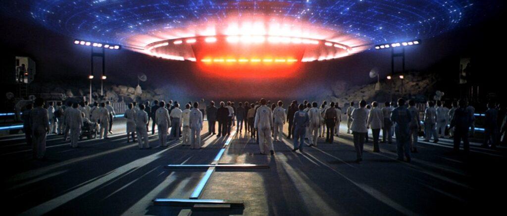 Una scena tratta da Incontri Ravvicinati Del Terzo Tipo di Steven Spielberg