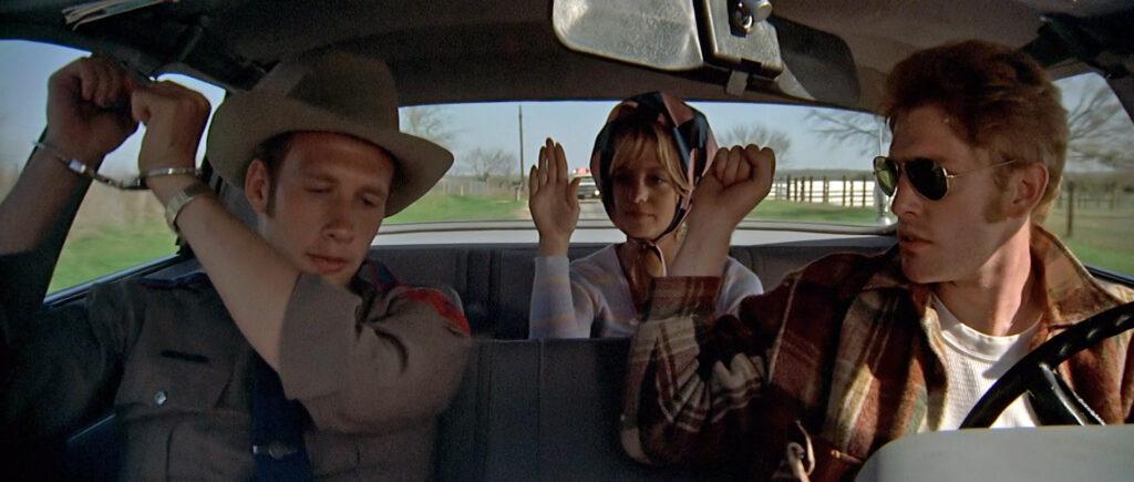Una scena tratta dal film Sugarland Express di Steven Spielberg