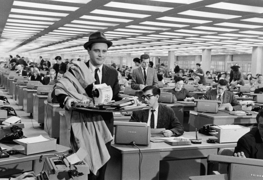 Jack Lemmon nel film L'Appartamento
