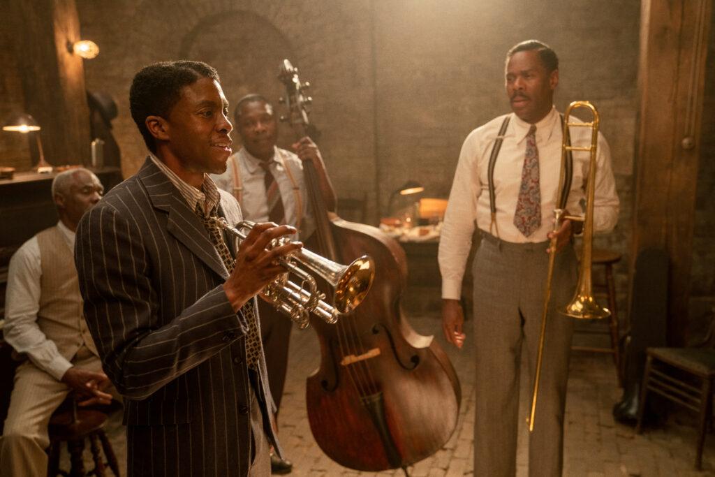 Chadwick Boseman nel candidato agli Oscar 2021 Ma Rainey's Black Bottom